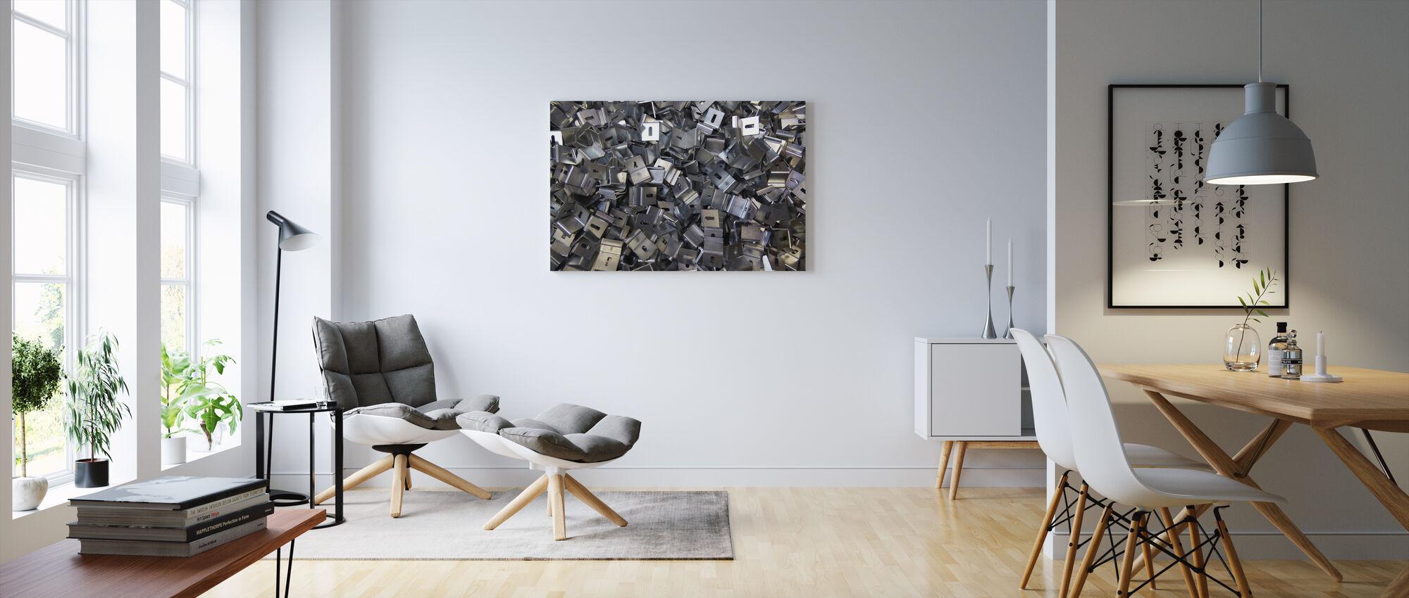 Metal Angle Chaos 2 - Canvas print - Living Room
