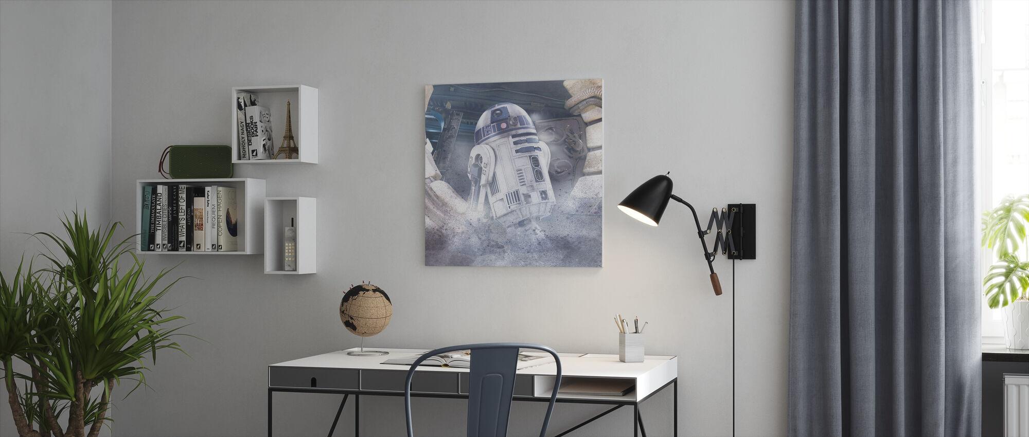 Stjerne kriger - R2-D2 - Lerretsbilde - Kontor