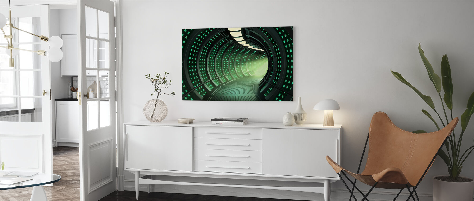 Escape to Space Tunnel - Canvas print - Living Room