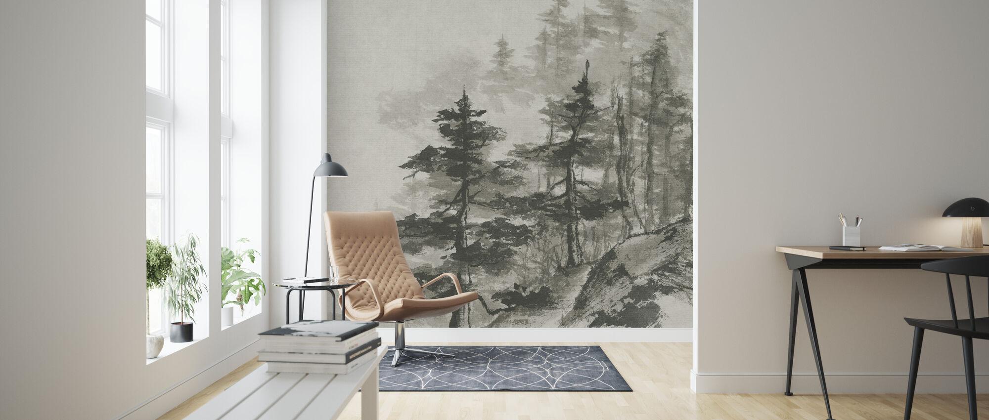 Sumi Treetops - Wallpaper - Living Room