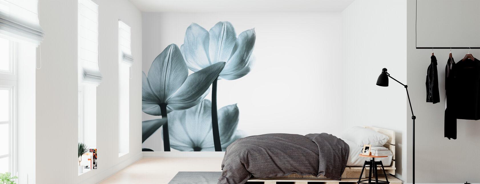 Doorschijnende Tulpen - Behang - Slaapkamer