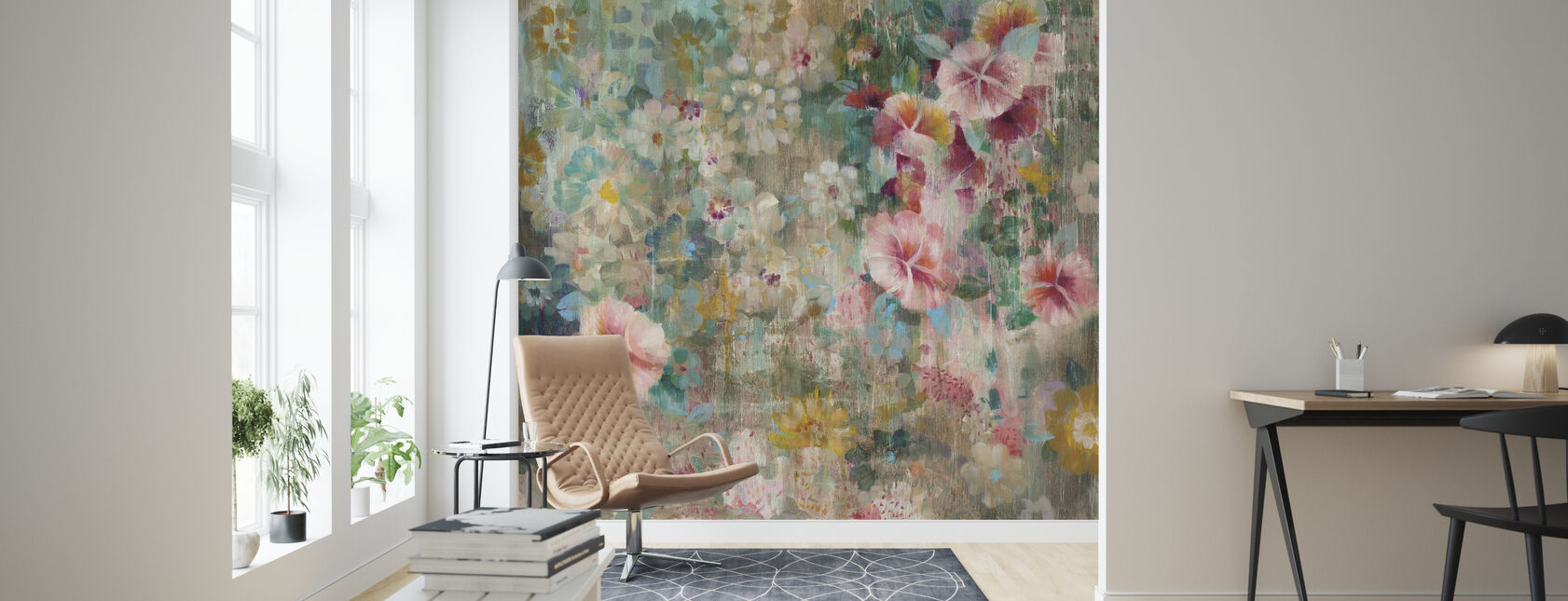 Flower Shower - Wallpaper - Living Room