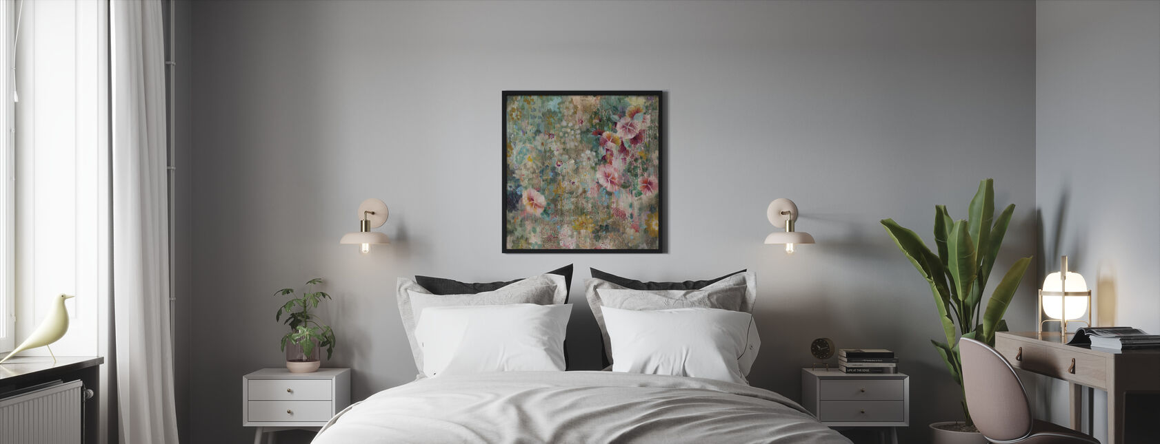 Blumendusche - Gerahmtes bild - Schlafzimmer