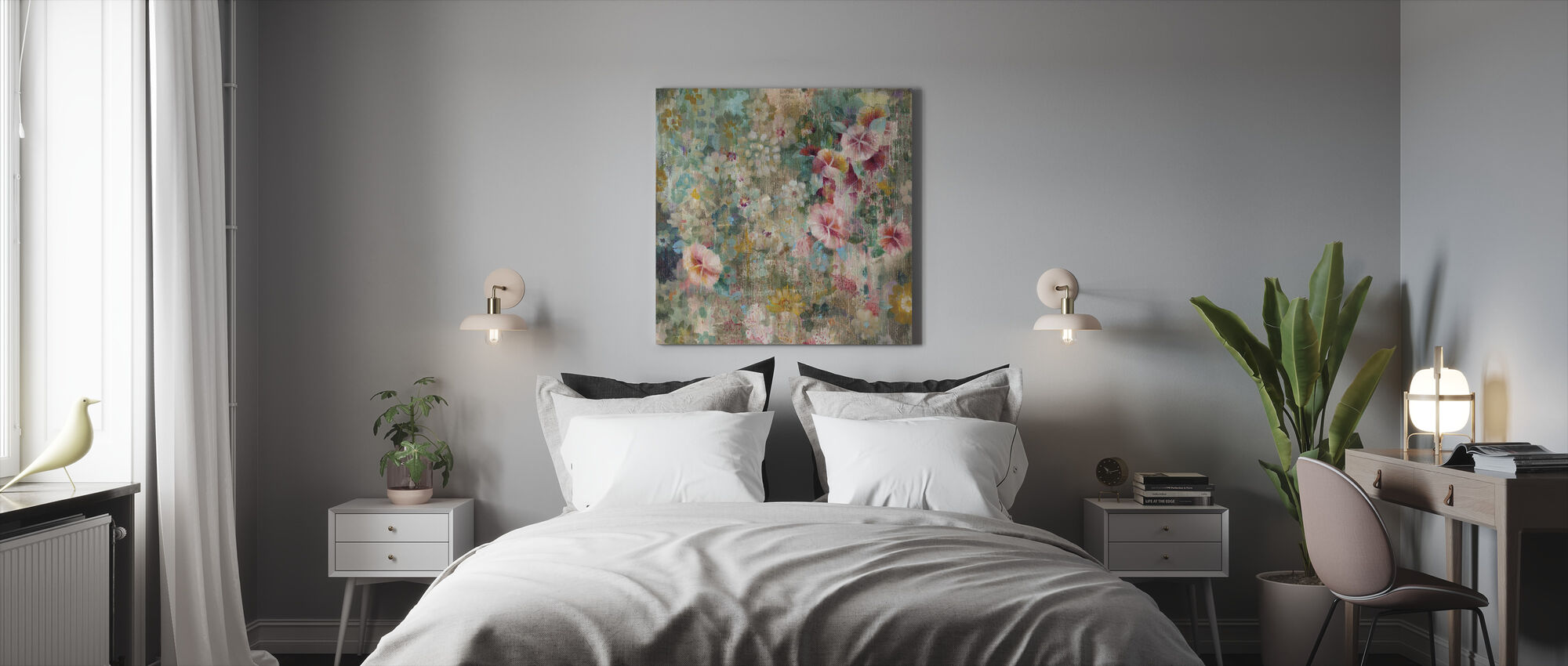 Flower Shower - Canvas print - Bedroom