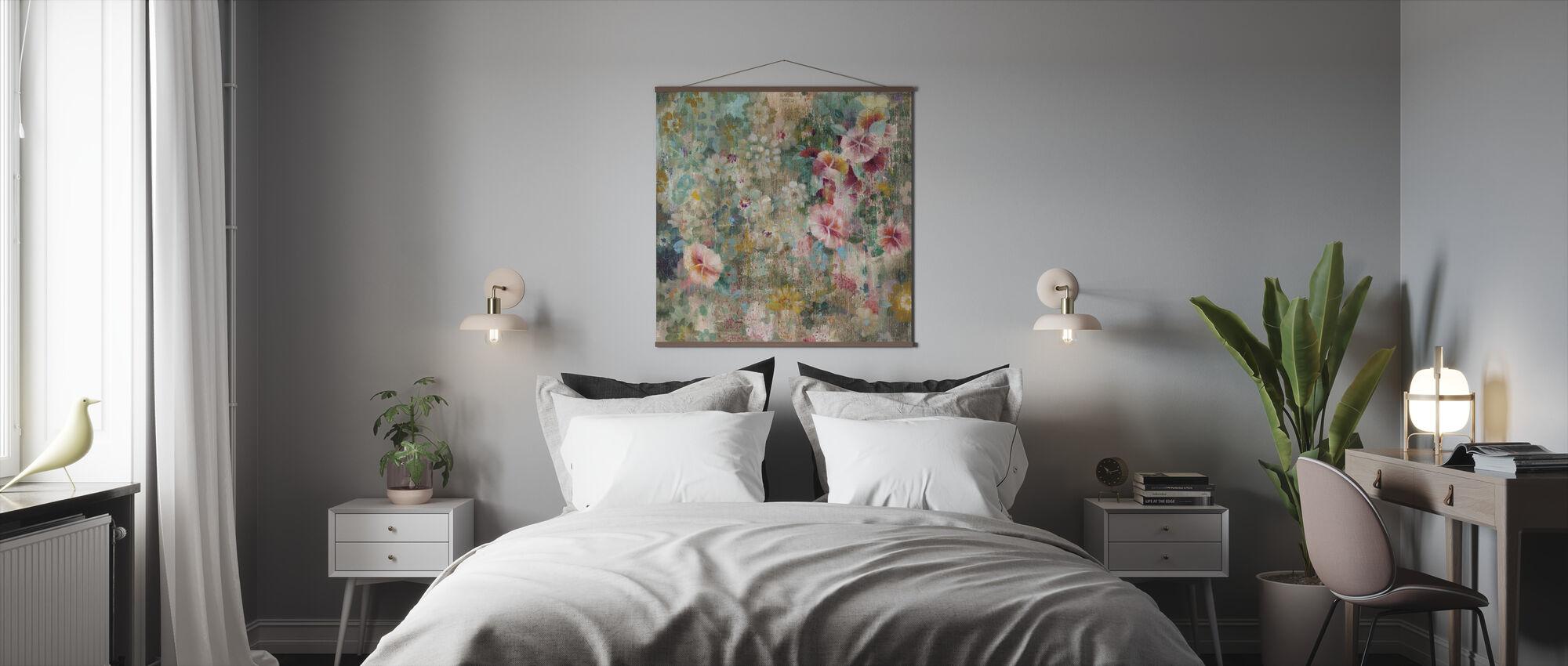 Kukka suihku - Juliste - Makuuhuone