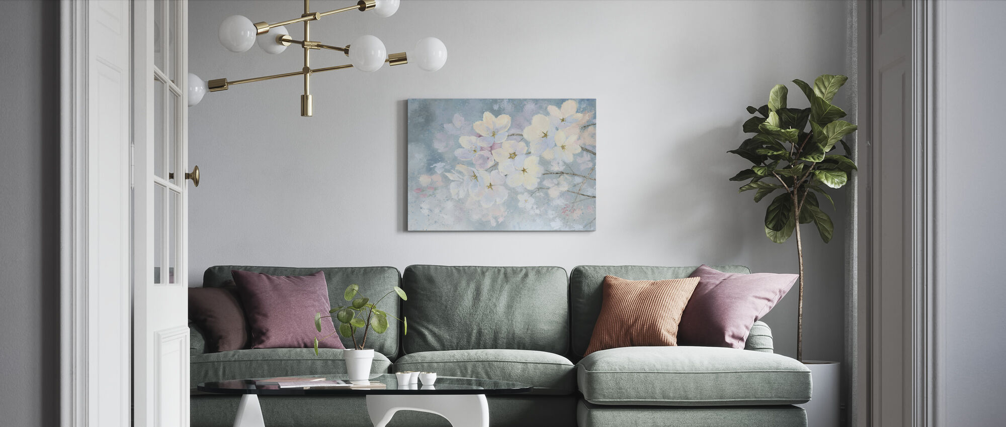 Splendid Bloom - Canvas print - Living Room