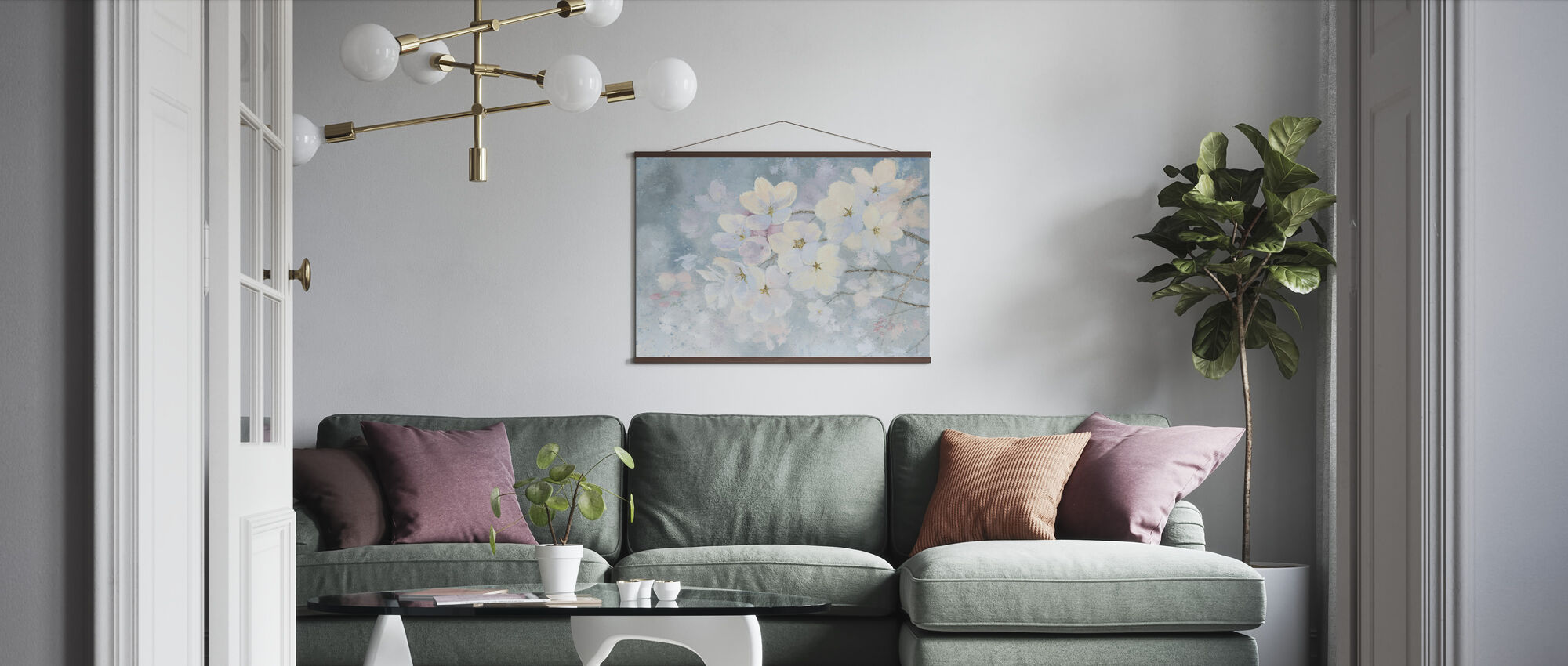 Splendid Bloom - Poster - Living Room