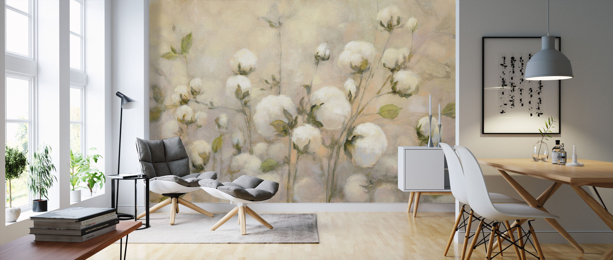 Cotton Field - Wallpaper - Living Room