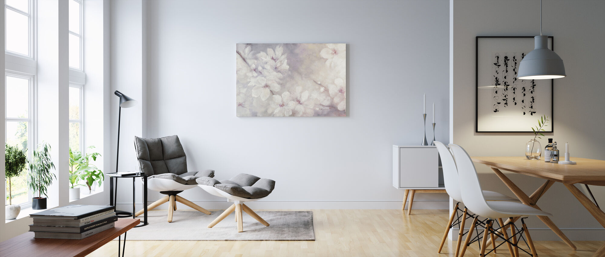 Cherry Blossoms Painting - Canvas print - Living Room