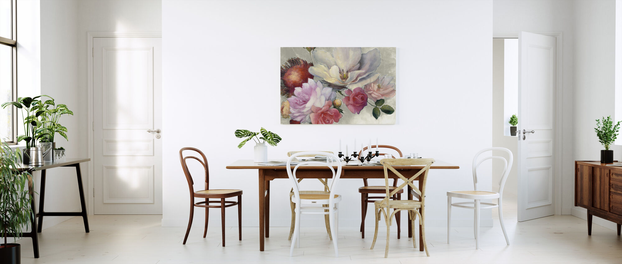 Flemish Fantasy on White - Canvas print - Kitchen