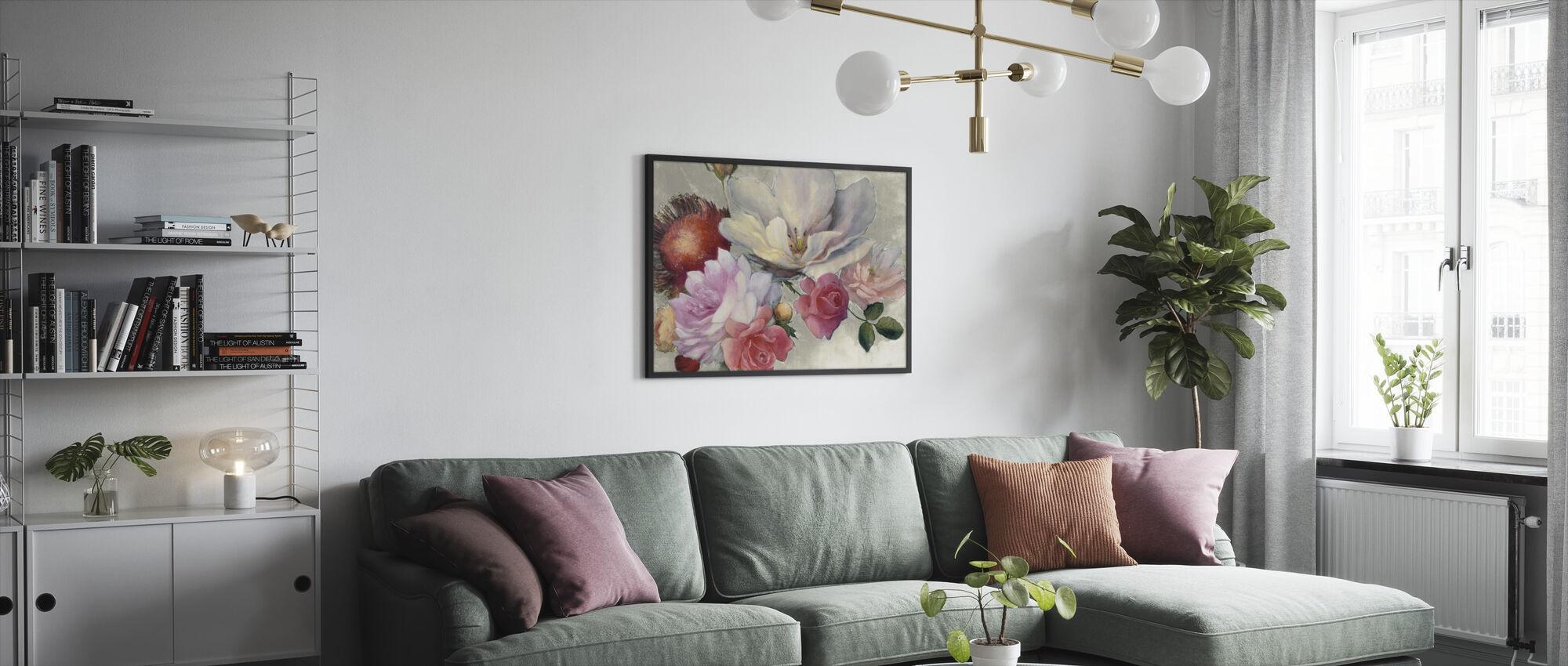 Flämische Fantasie auf Weiß - Gerahmtes bild - Wohnzimmer