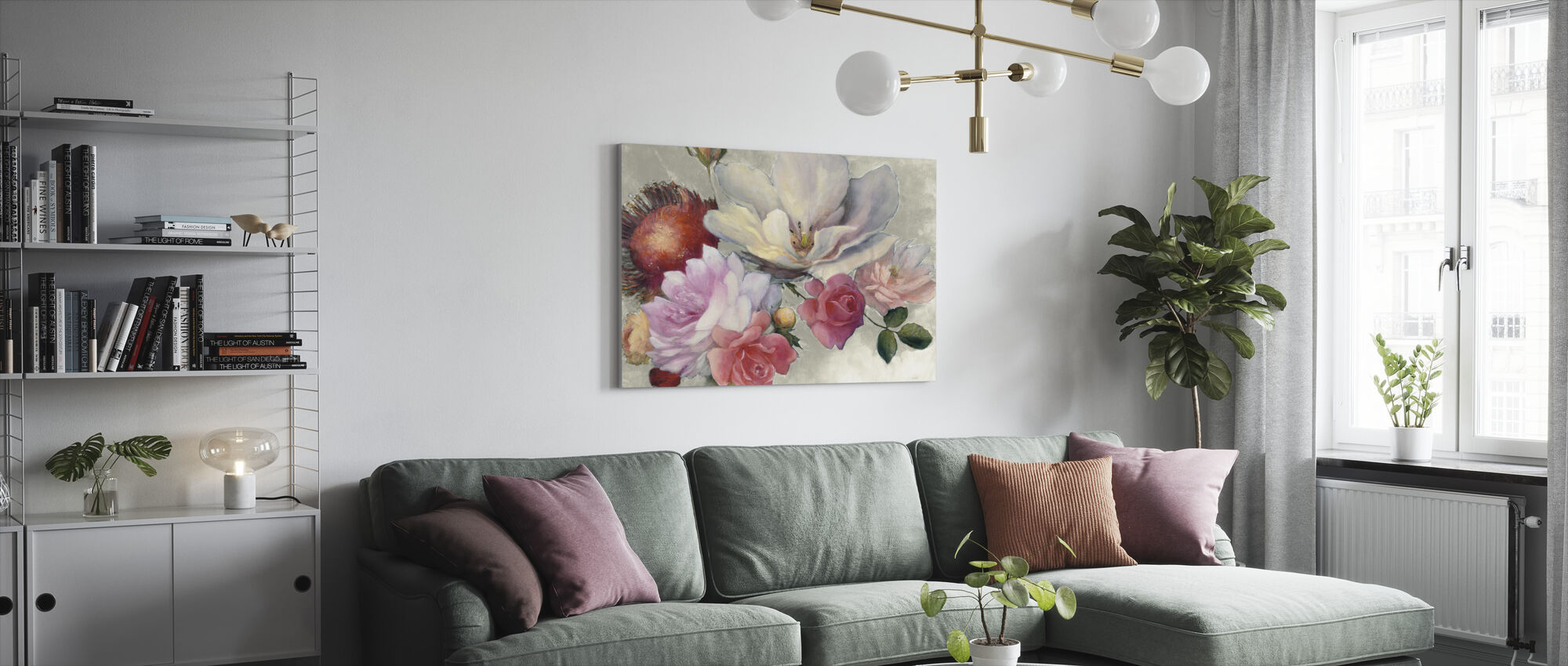 Flemish Fantasy on White - Canvas print - Living Room