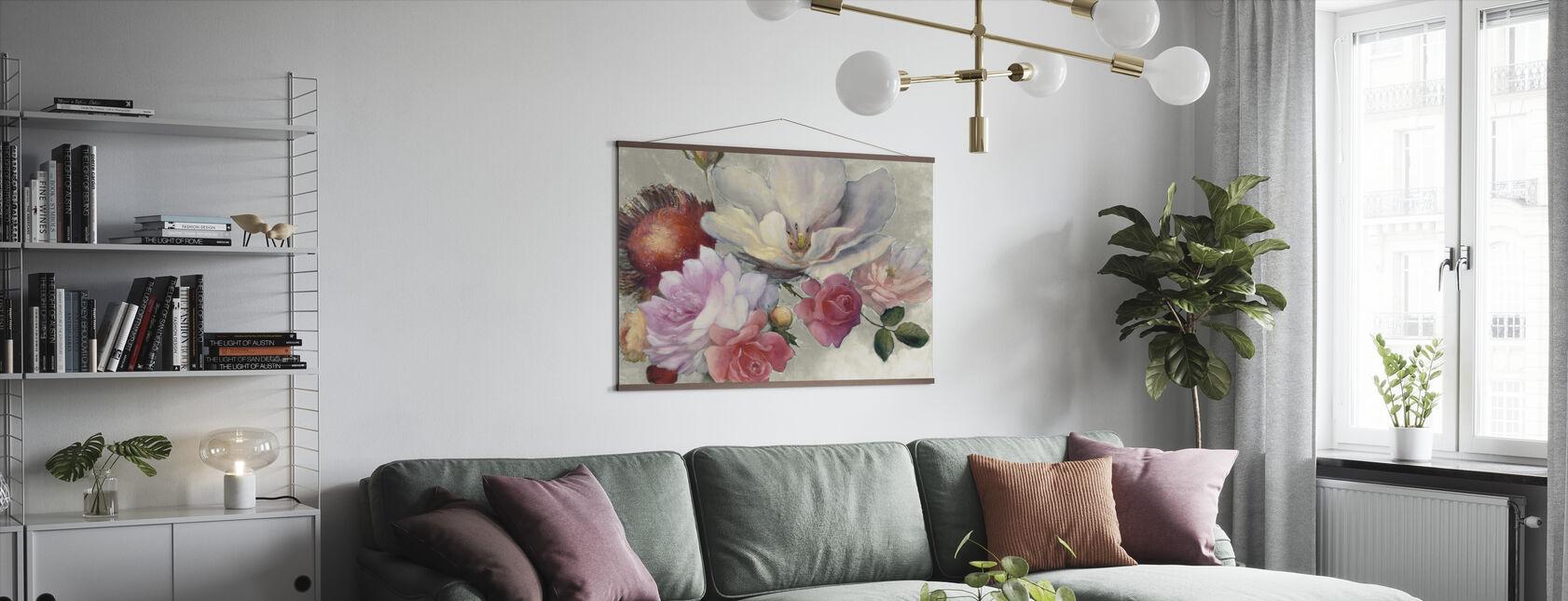 Flemish Fantasy on White - Poster - Living Room