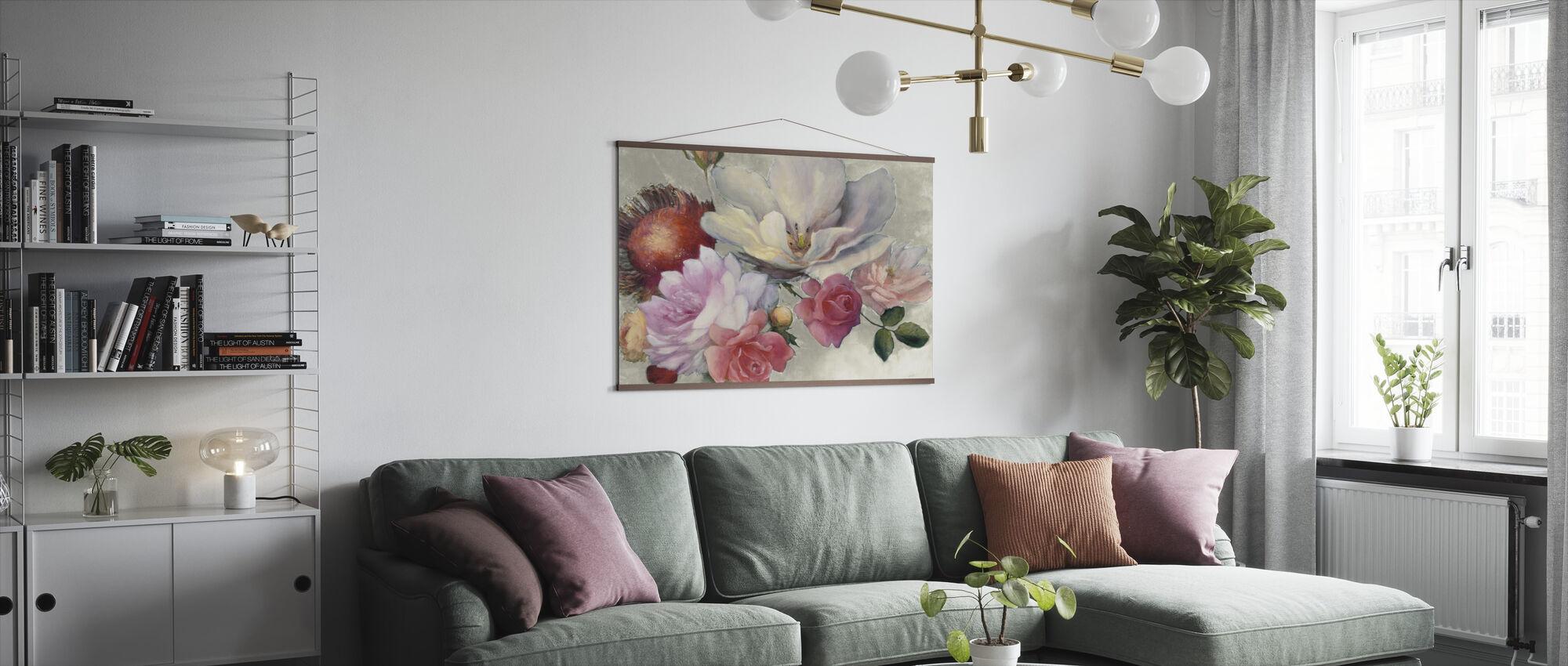 Flämische Fantasie auf Weiß - Poster - Wohnzimmer