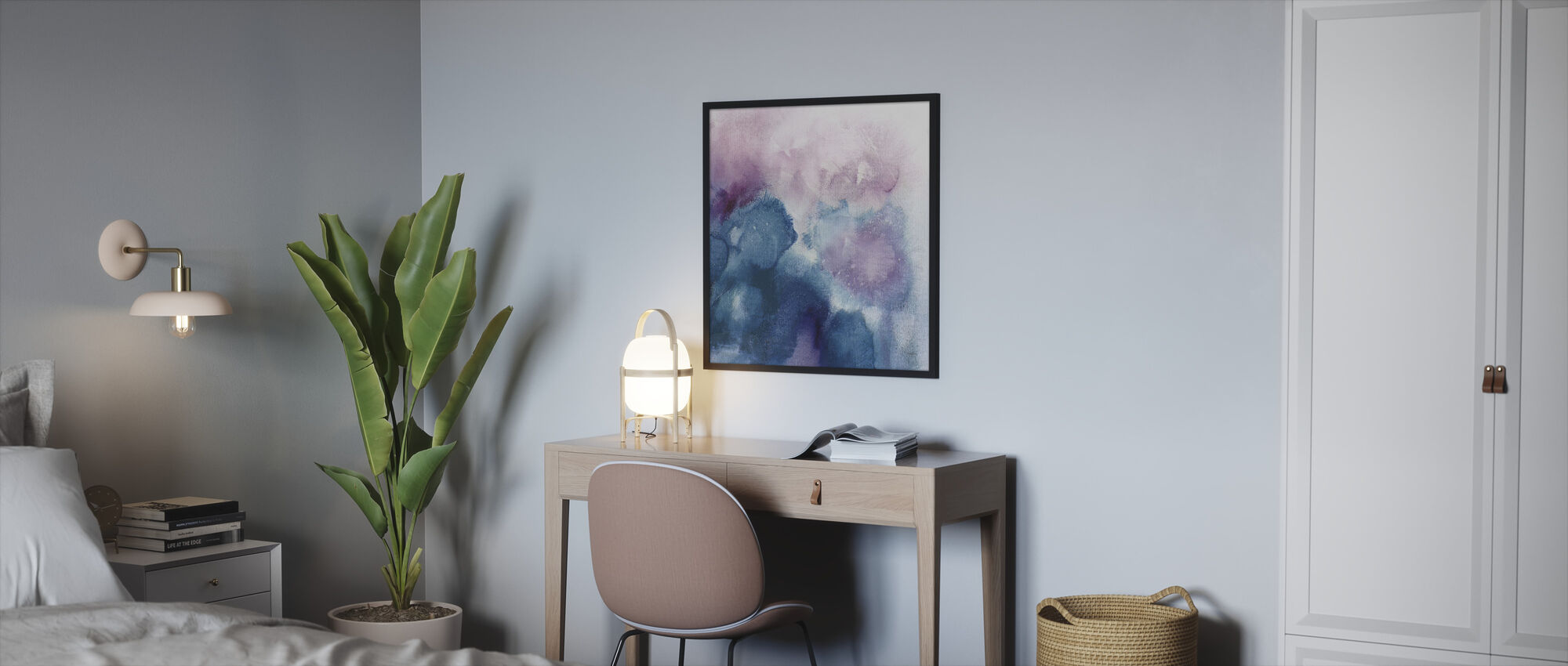 Nebula - Framed print - Bedroom
