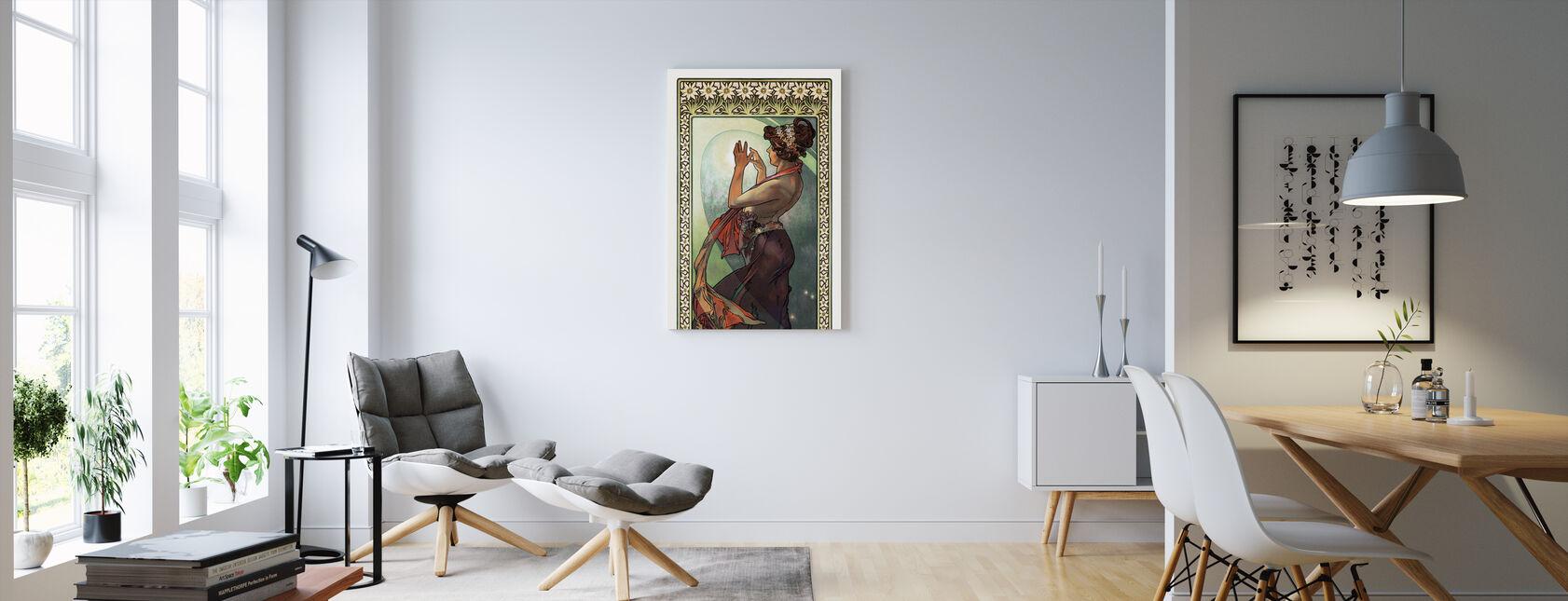 Alphonse Mucha - Fleece Star - Canvas print - Living Room