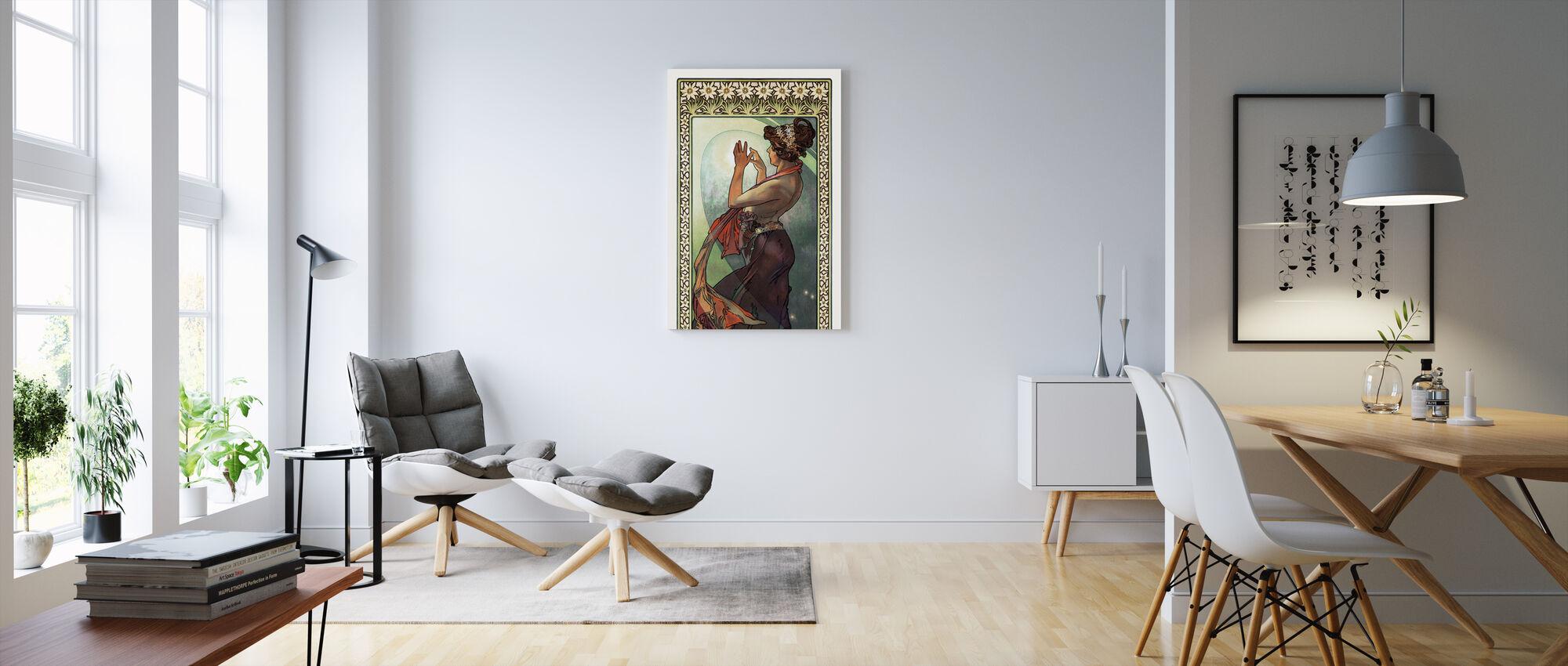 Alphonse Mucha - Fleece Ster - Canvas print - Woonkamer