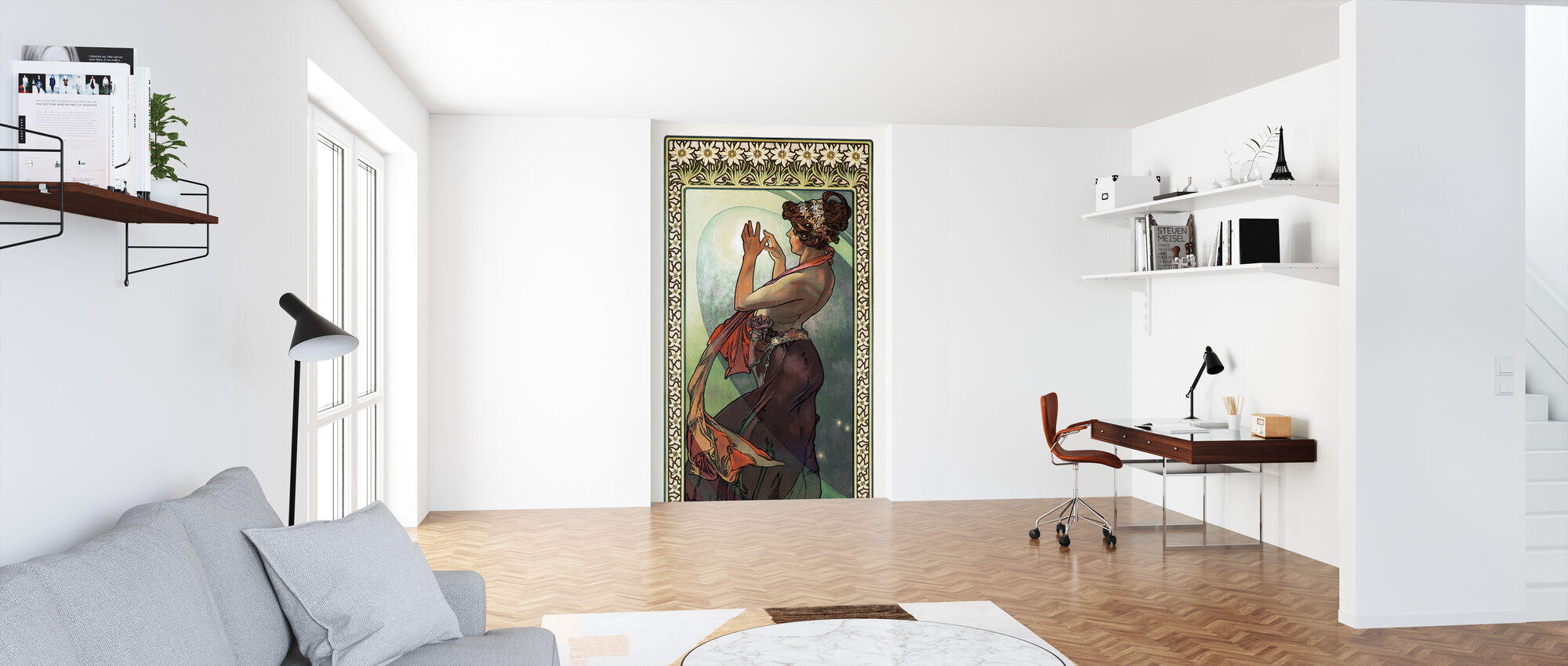 Alphonse Mucha - Fleece Star - Wallpaper - Office