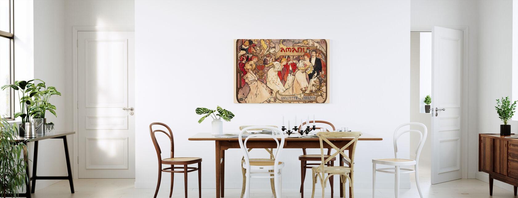Alphonse Mucha - Amants Colour Litho - Canvas print - Kitchen