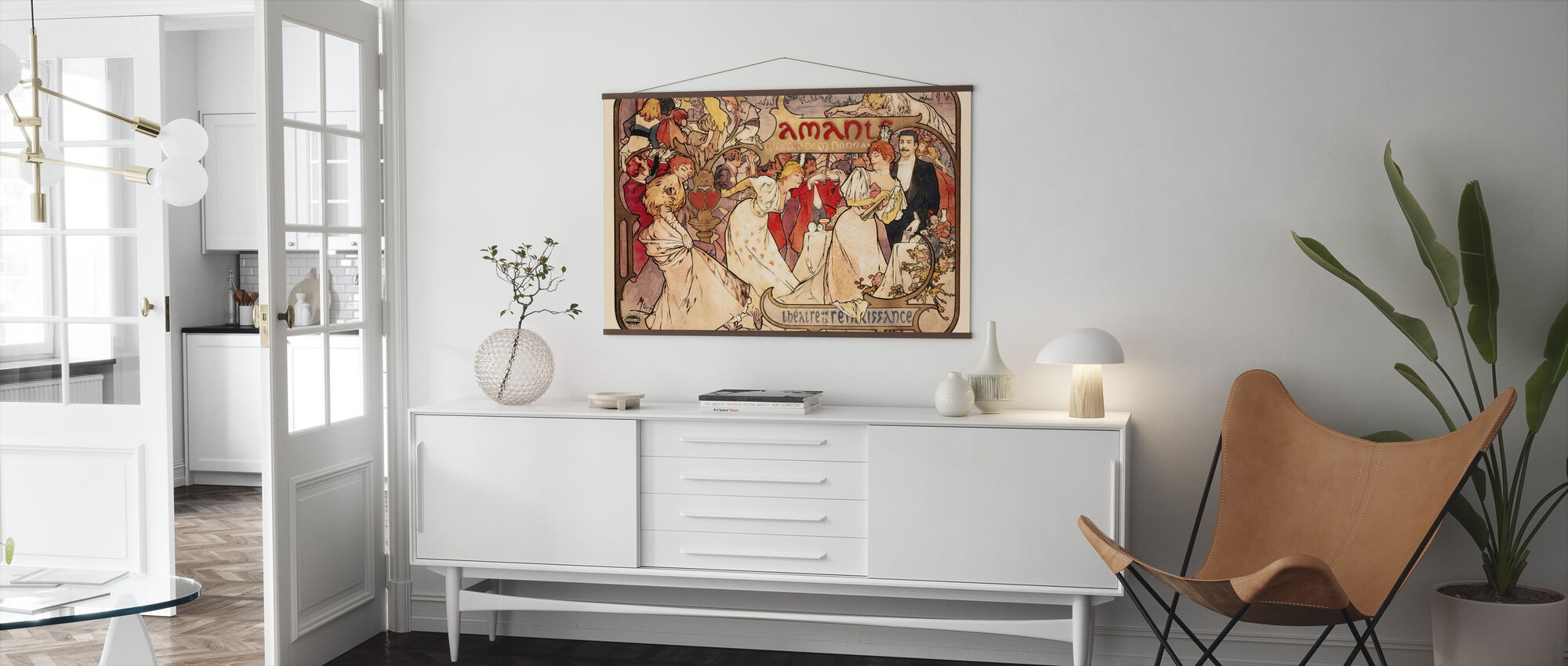 Alphonse Mucha - Amants Colour Litho - Poster - Woonkamer