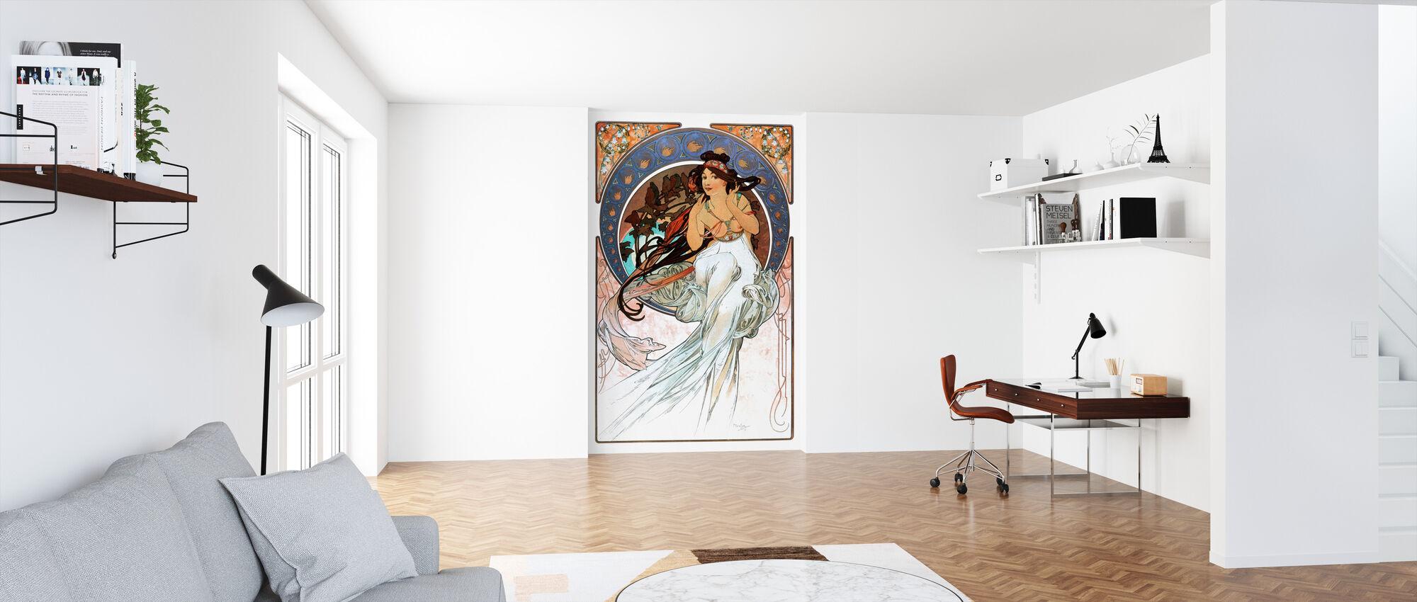 Alphonse Mucha - Art Noveau - Wallpaper - Office