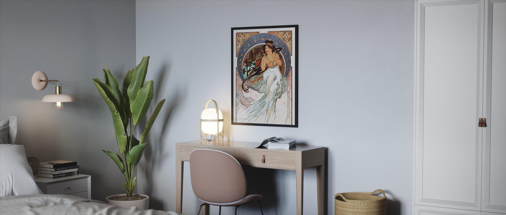 Alphonse Mucha - Art Noveau - Kehystetty kuva - Makuuhuone