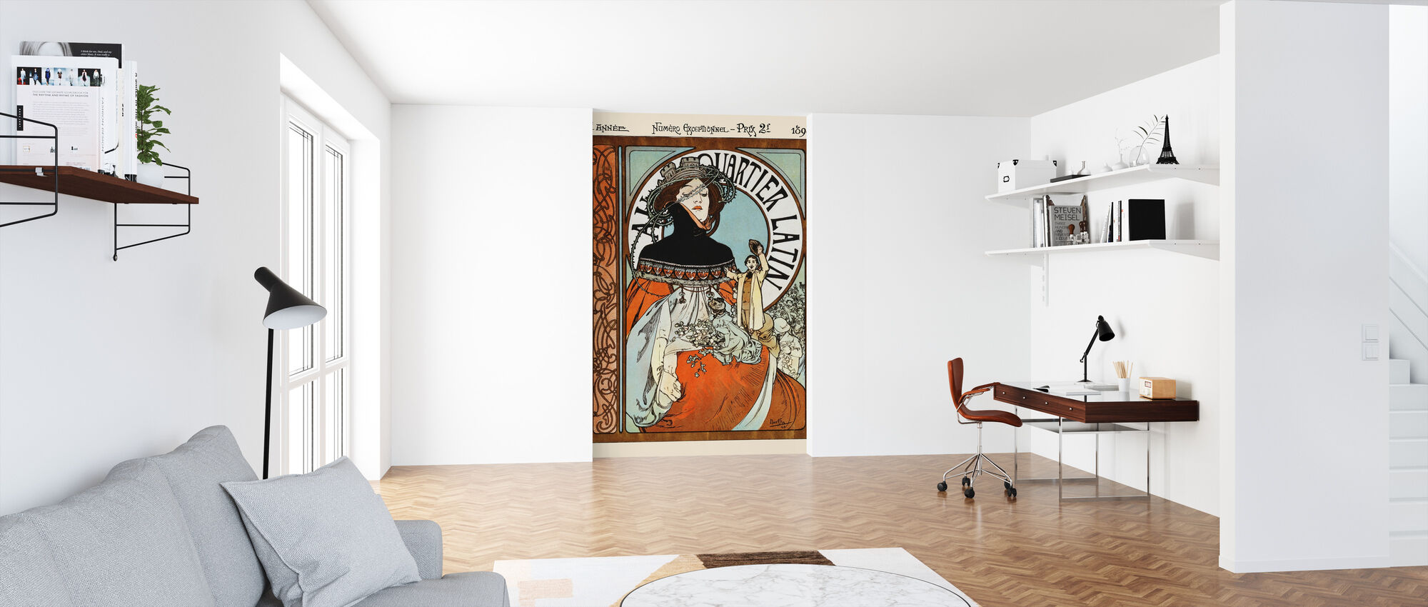 Alphonse Mucha - Au Quarter Latin - Wallpaper - Office