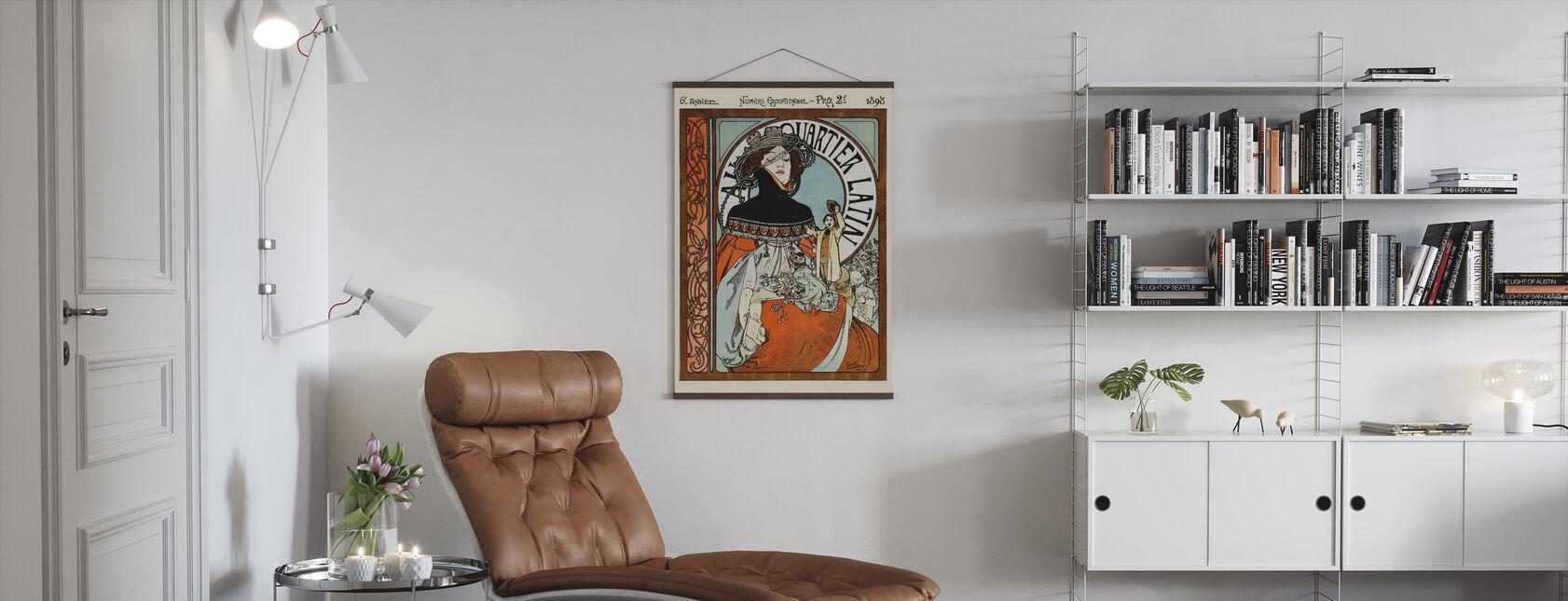 Alphonse Mucha - Au Quarter Latin - Poster - Woonkamer