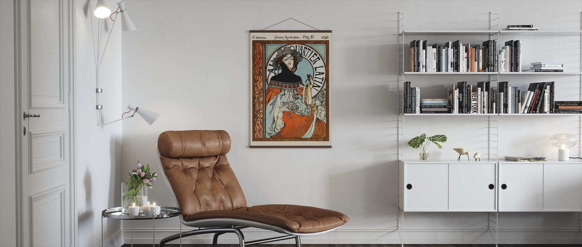 Alphonse Mucha - Au Quarter Latin - Poster - Vardagsrum