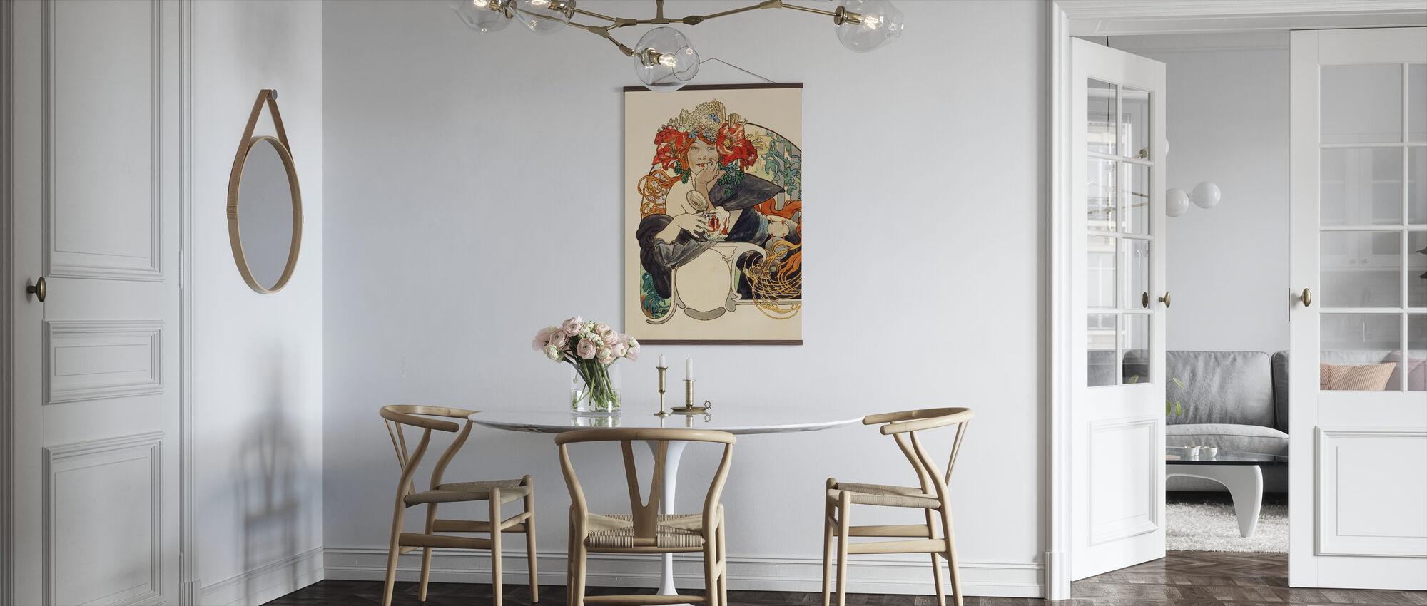 Alphonse Mucha - Bieres de La Maas Gouache - Poster - Keuken
