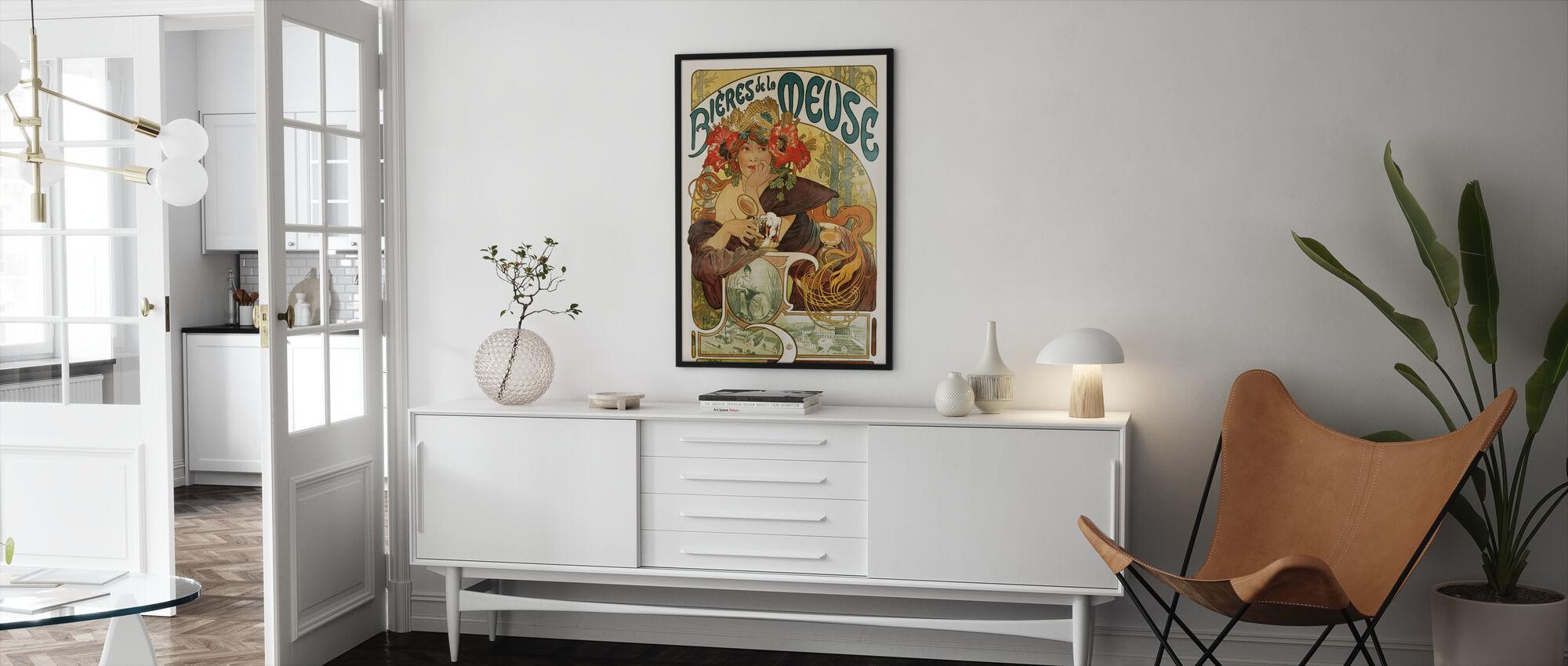 Alphonse Mucha - Bieres de La Meuse - Framed print - Living Room
