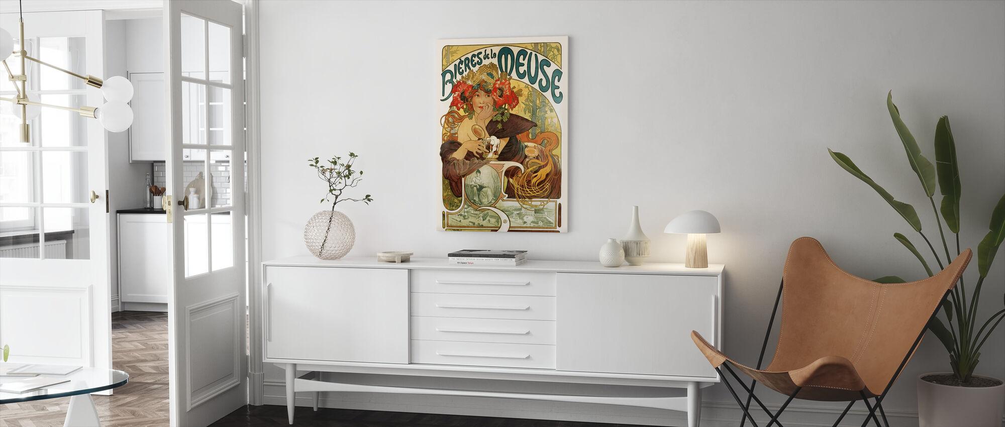 Alphonse Mucha - Bieres de La Meuse - Canvas print - Living Room