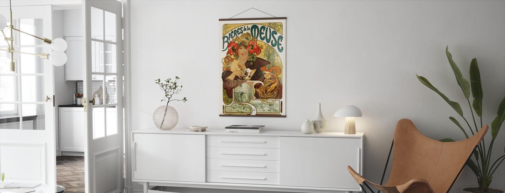 Alphonse Mucha - Bières de La Meuse - Poster - Vardagsrum