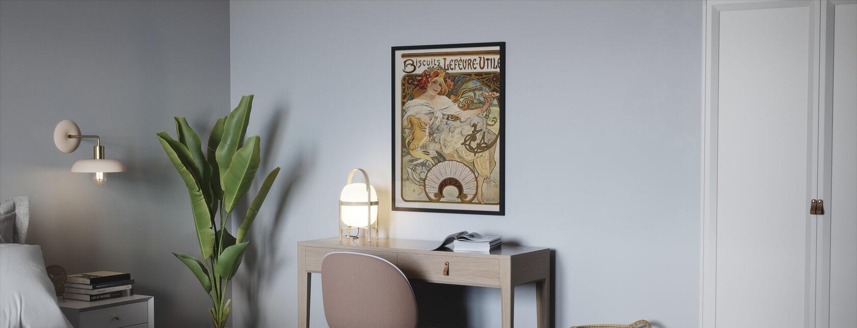 Alphonse Mucha - Biscuits Lefévre-Utilie - Kehystetty kuva - Makuuhuone
