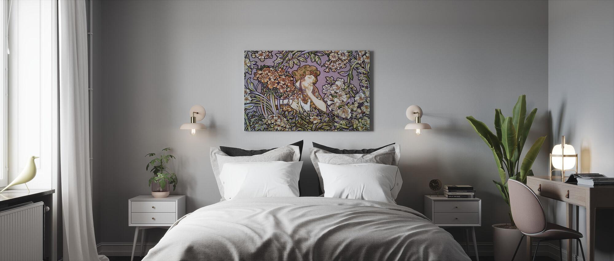 Alphonse Mucha - Colour Litho Lavendel - Lerretsbilde - Soverom