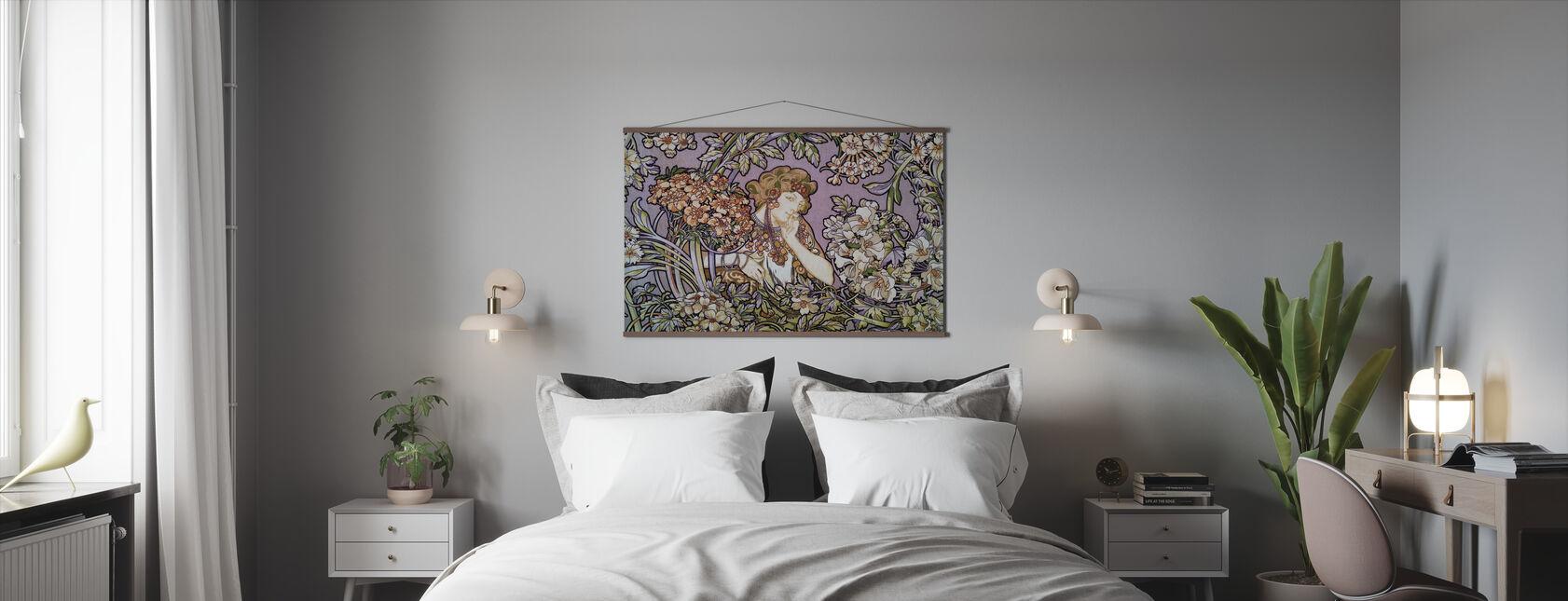 Alphonse Mucha - Colour Litho Lavendel - Poster - Bedroom