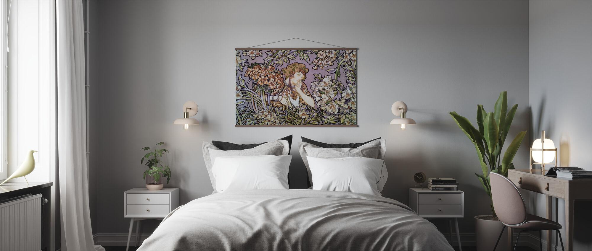 Alphonse Mucha - Colour Litho Lavendel - Poster - Slaapkamer