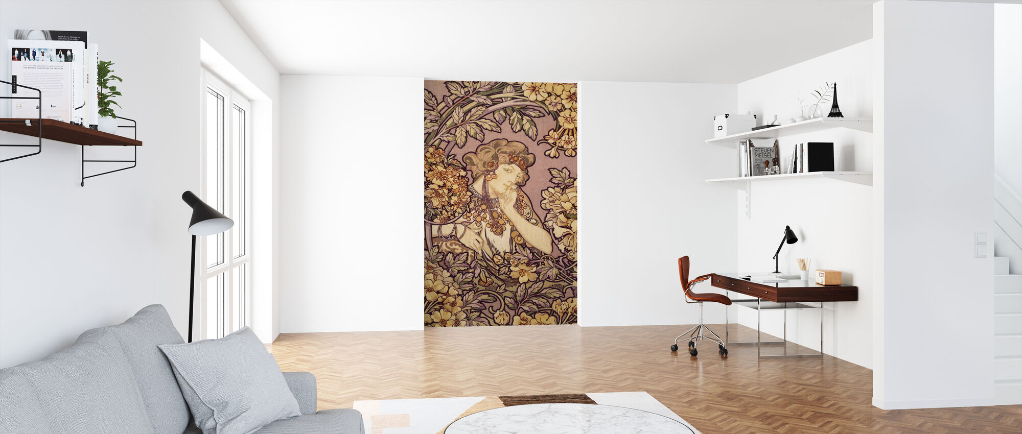 Alphonse Mucha - Colour Litho - Wallpaper - Office