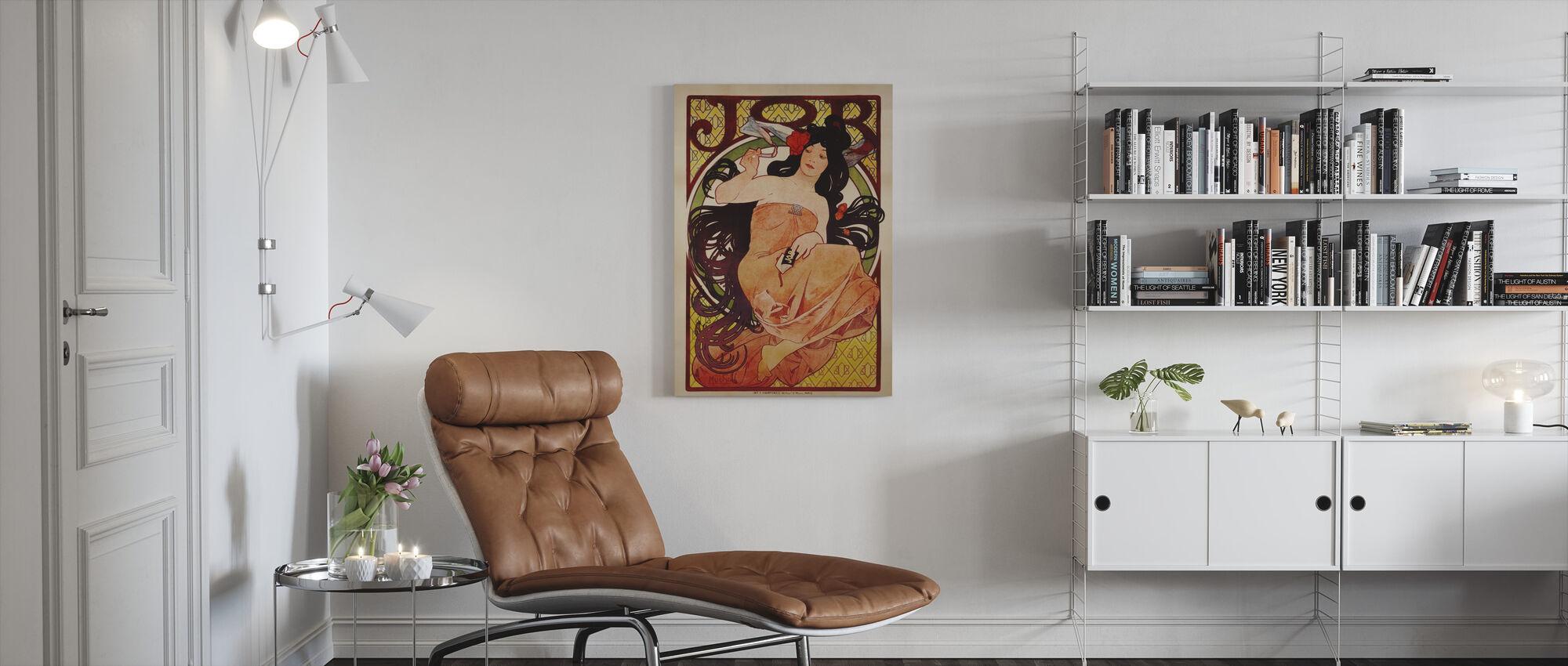 Alphonse Mucha - kleur job Litho - Canvas print - Woonkamer