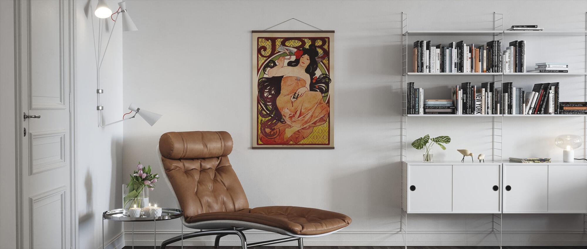 Alphonse Mucha - Jobb färg litho - Poster - Vardagsrum