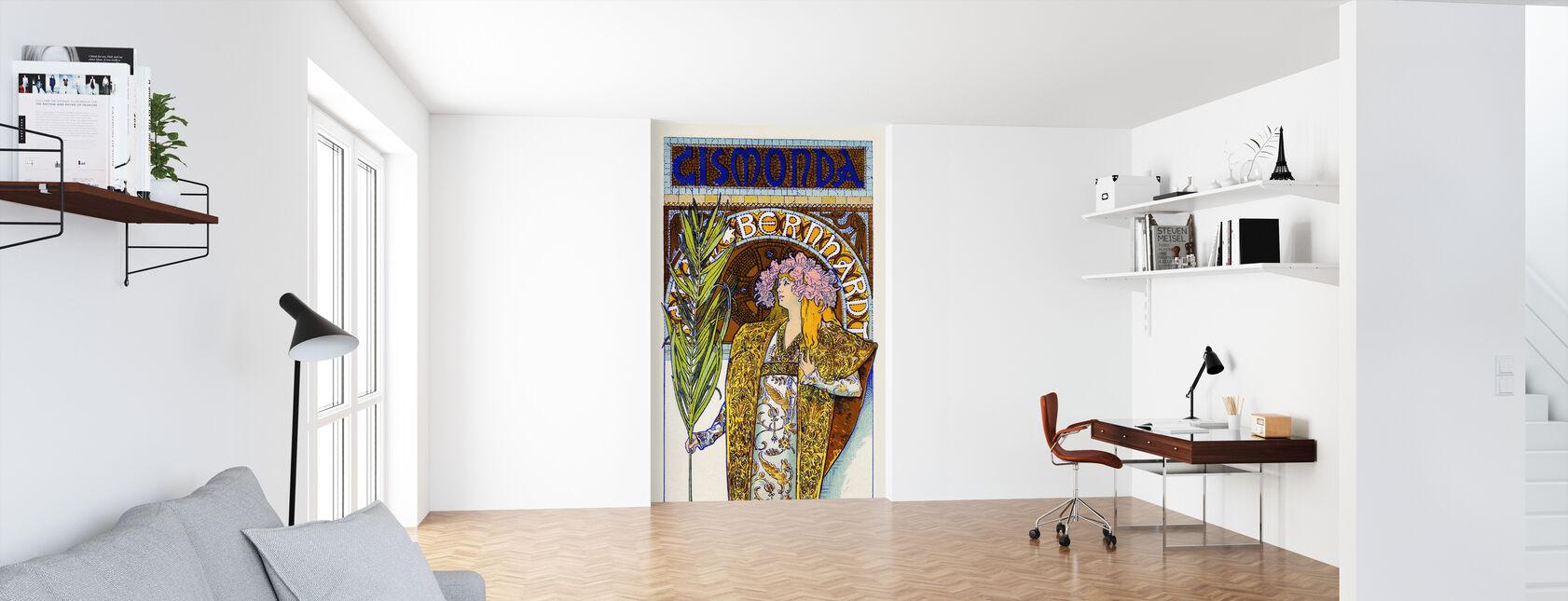 Alphonse Mucha - Theater Renaissance - Tapete - Büro