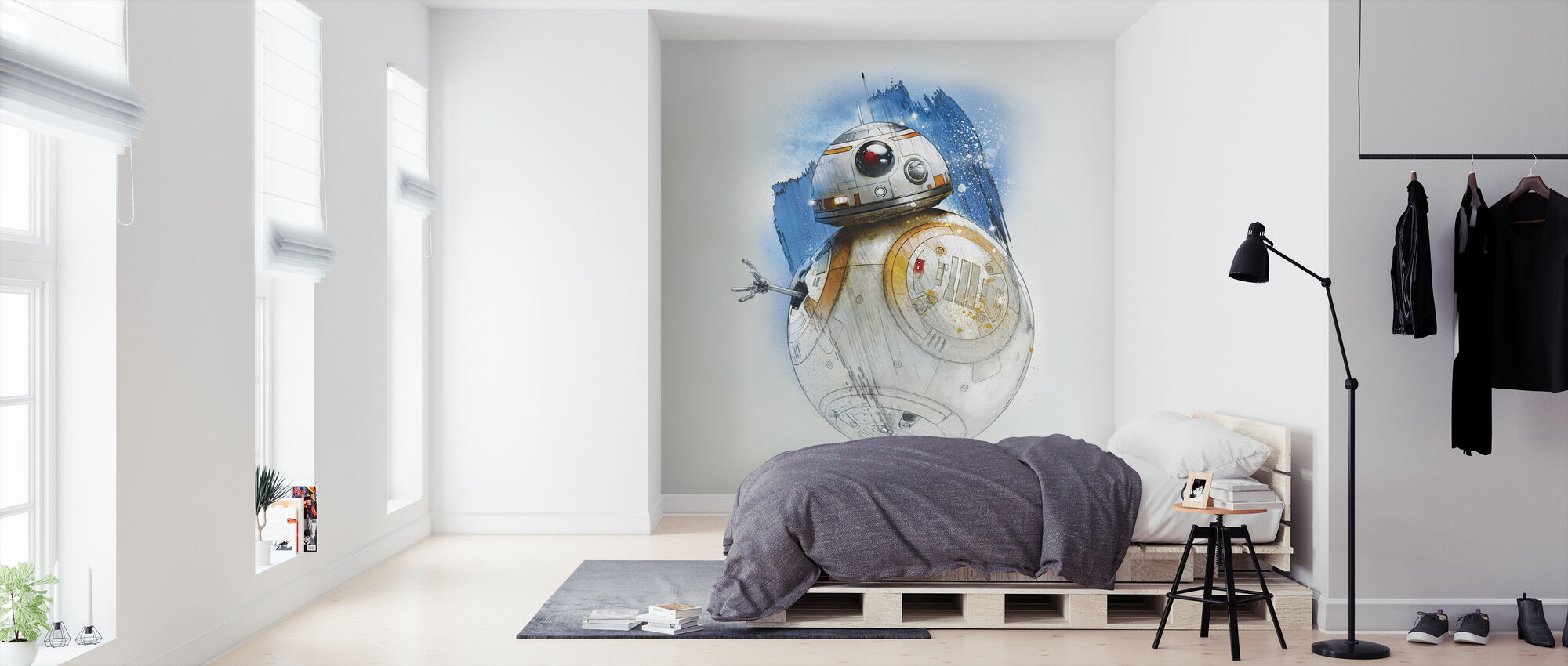 Star Wars - BB-8 penselstrøk - Tapet - Soverom