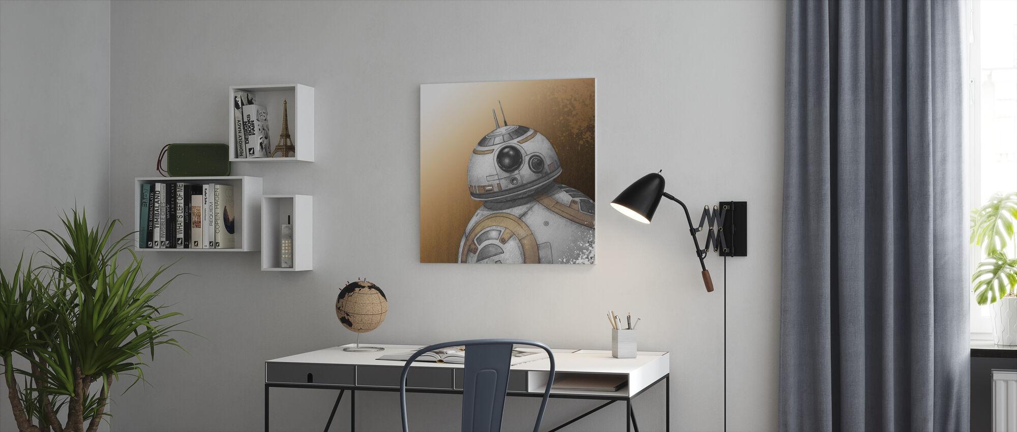 Star Wars - BB-8 - tegning - Lerretsbilde - Kontor