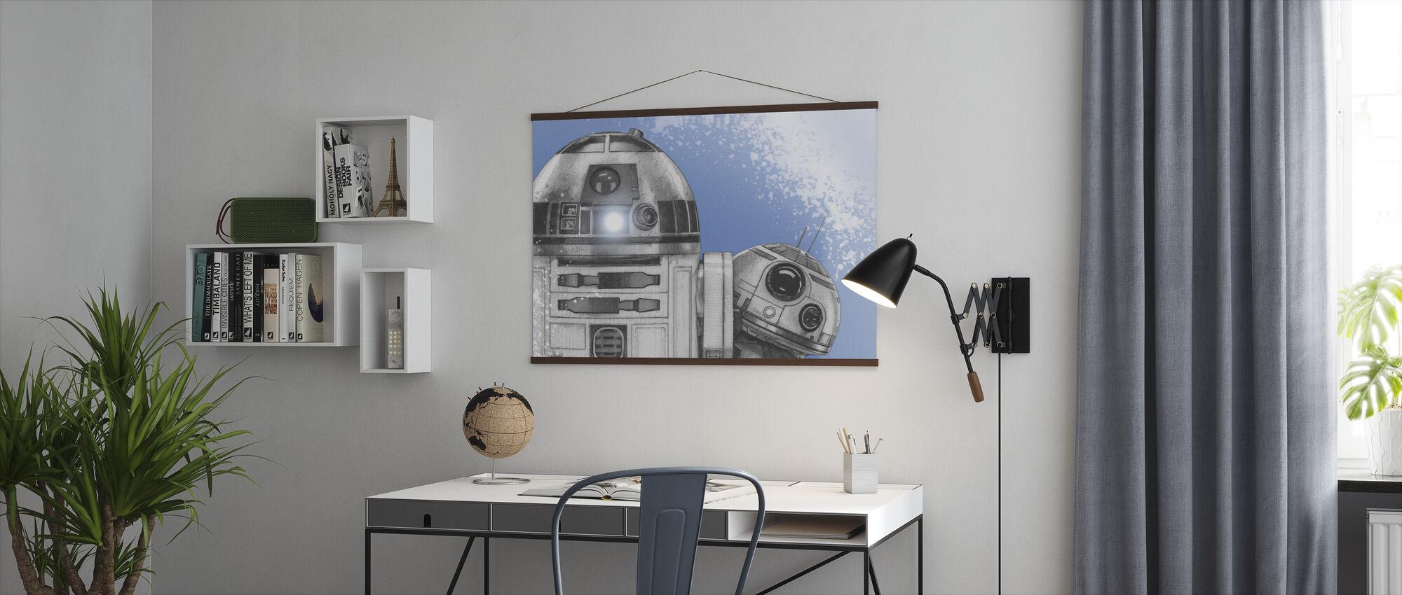 Star Wars - R2-D2 og BB-8 - Plakat - Kontor
