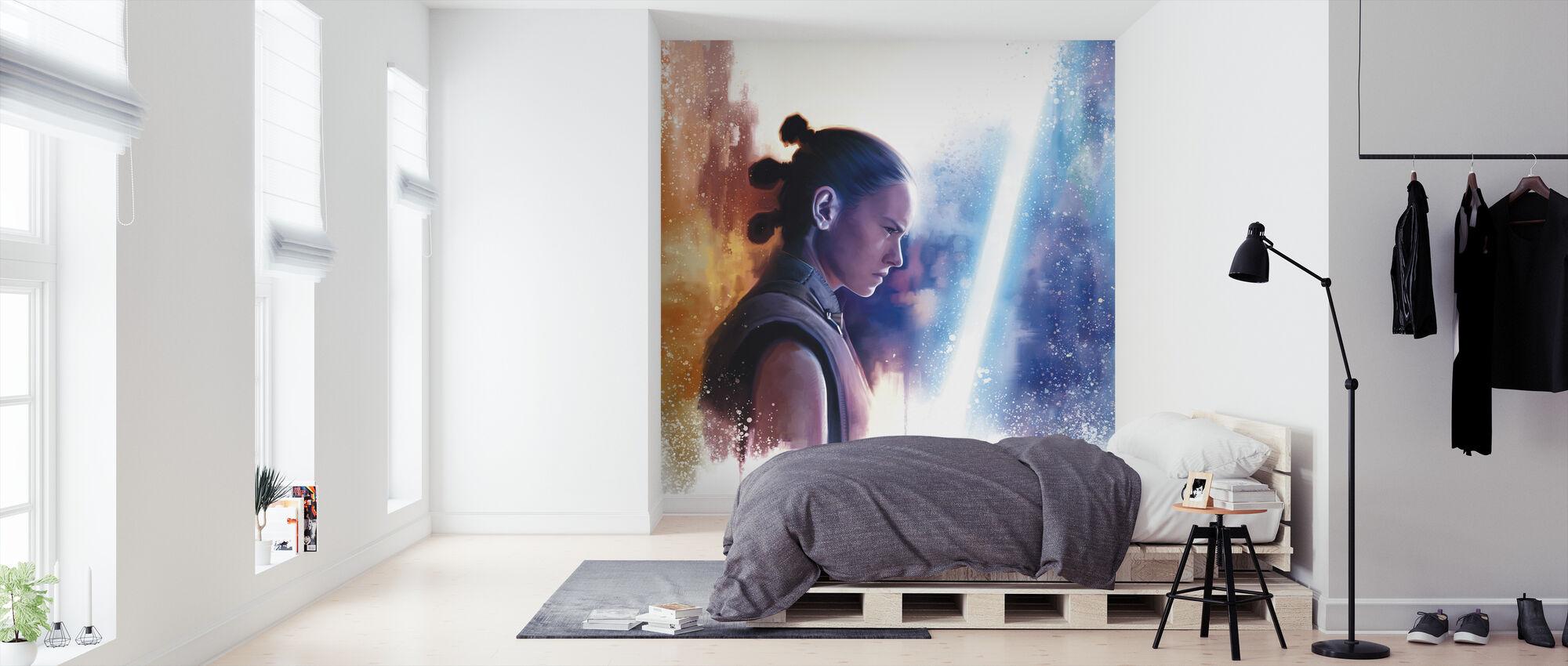 Star Wars - Rey - Vad ser du? - Tapet - Sovrum
