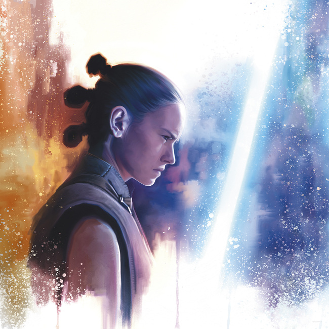 Star Wars - Rey - What do you see? Fototapeter & Tapeter 100 x 100 cm