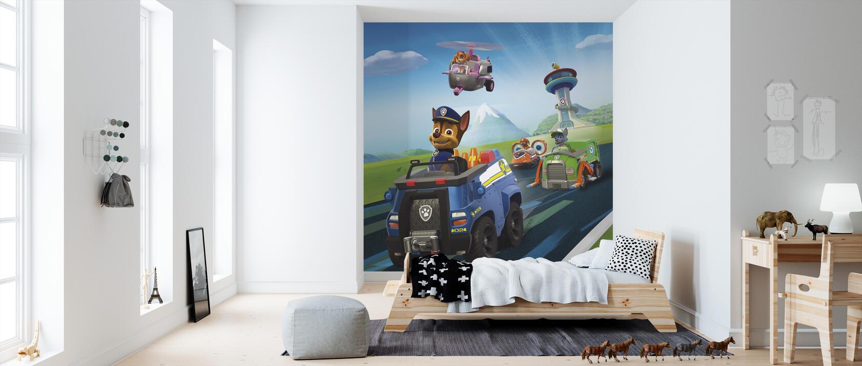 paw patrol let 39 s roll kostenlos gelieferte fototapete von h chster qualit t photowall. Black Bedroom Furniture Sets. Home Design Ideas