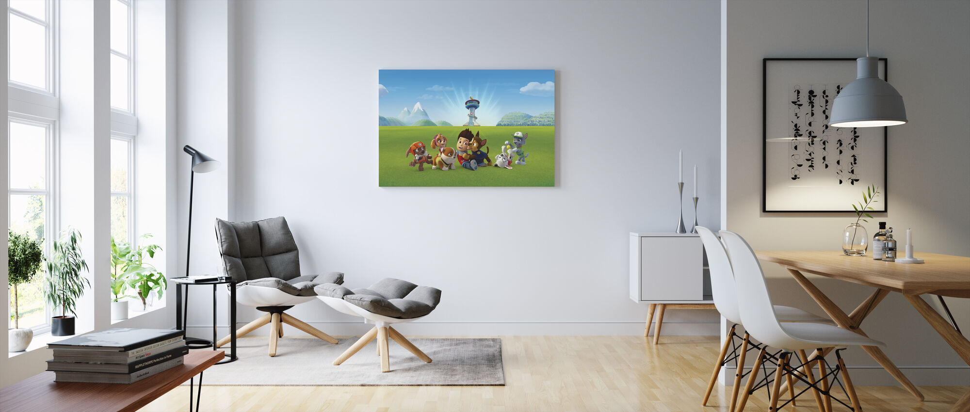 PAW patrouille - Off duty - Canvas print - Woonkamer