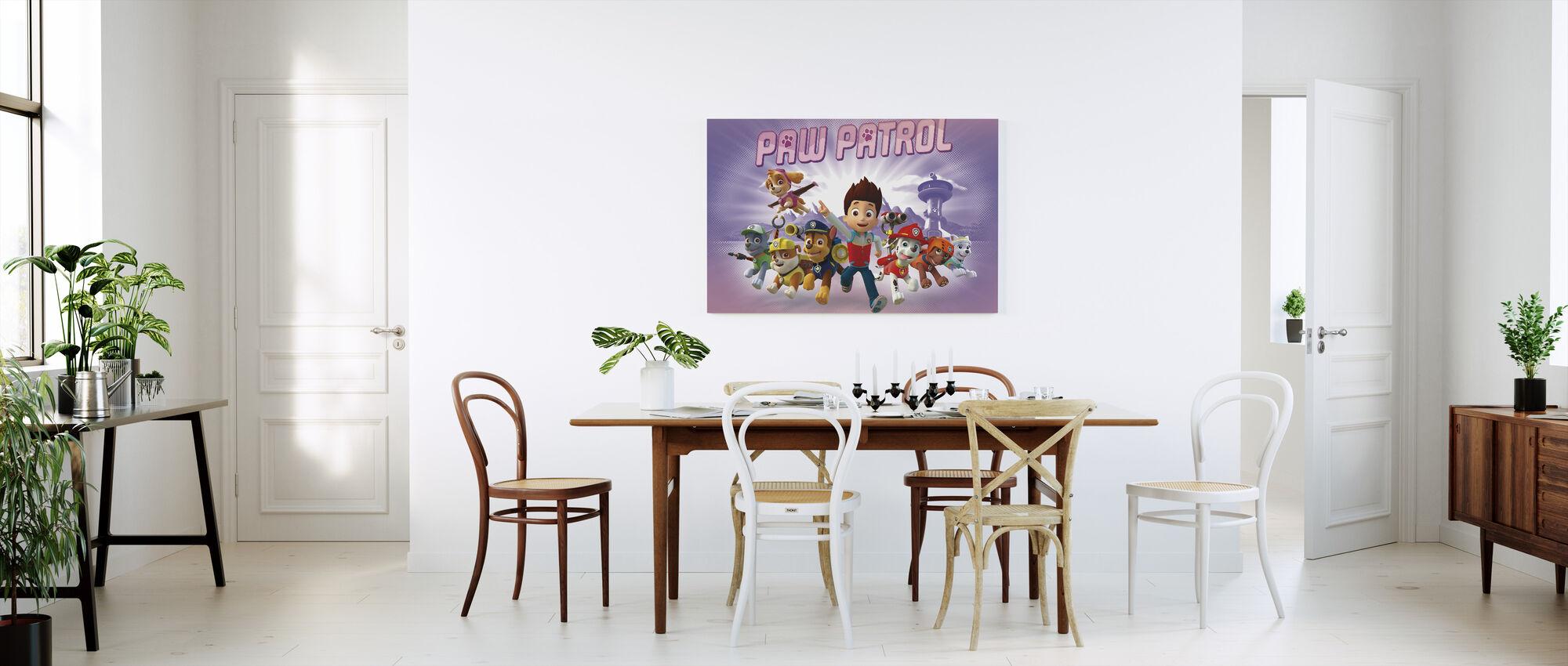 PAW Patrol - Paw Patrol ist auf einer Rolle - Lila - Leinwandbild - Küchen