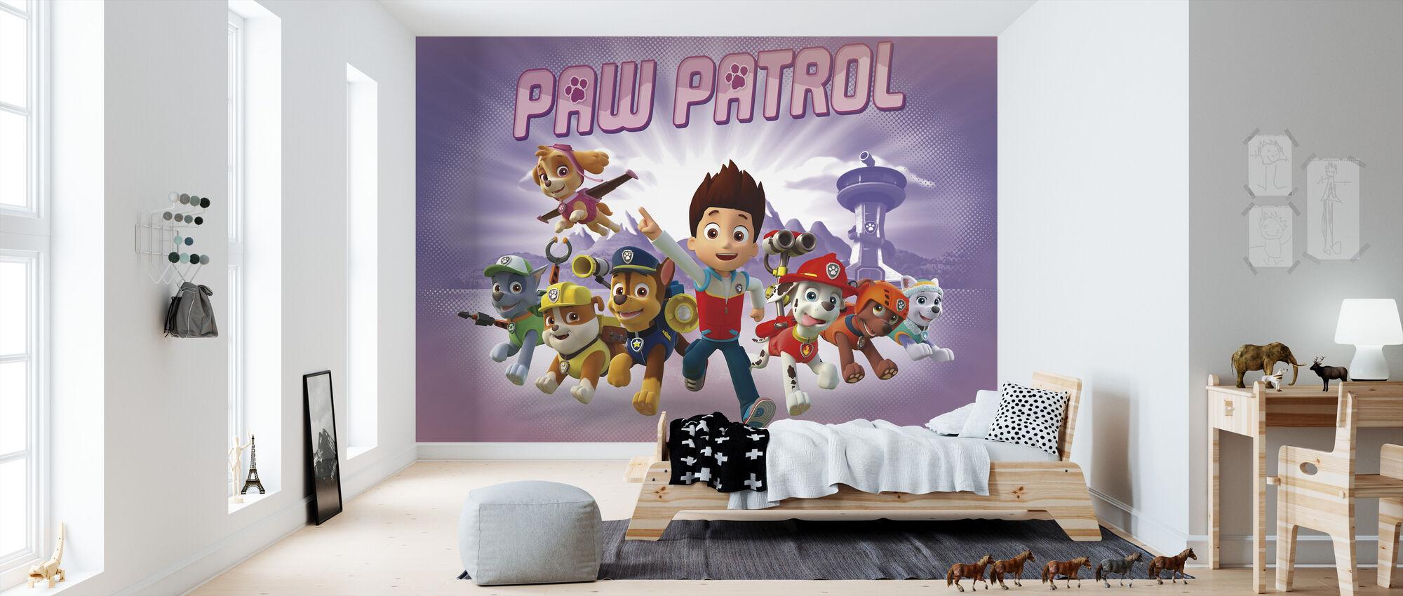 PAW Patrol - PAW Patrol on rullalla - Purple - Tapetti - Lastenhuone